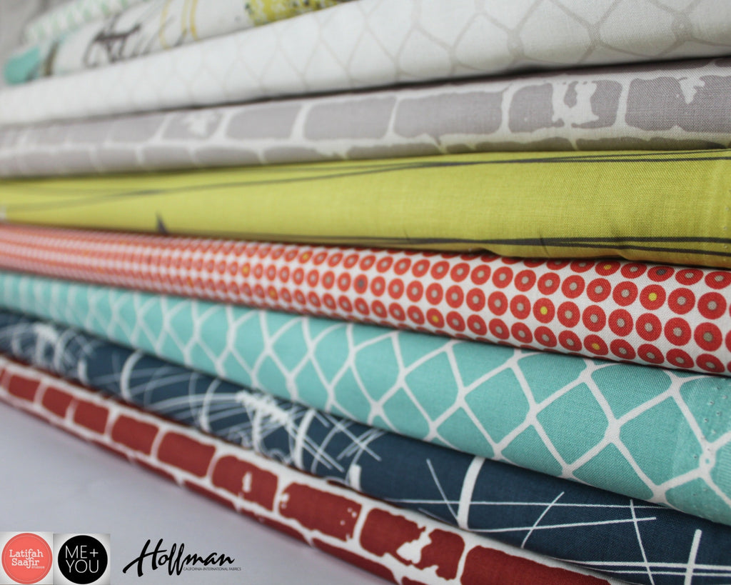 Grafic cotton fabric for quilting and dressmaking