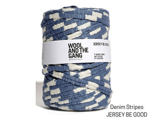 Wool and the Gang Denim Blue Stripe Jersey Yarn