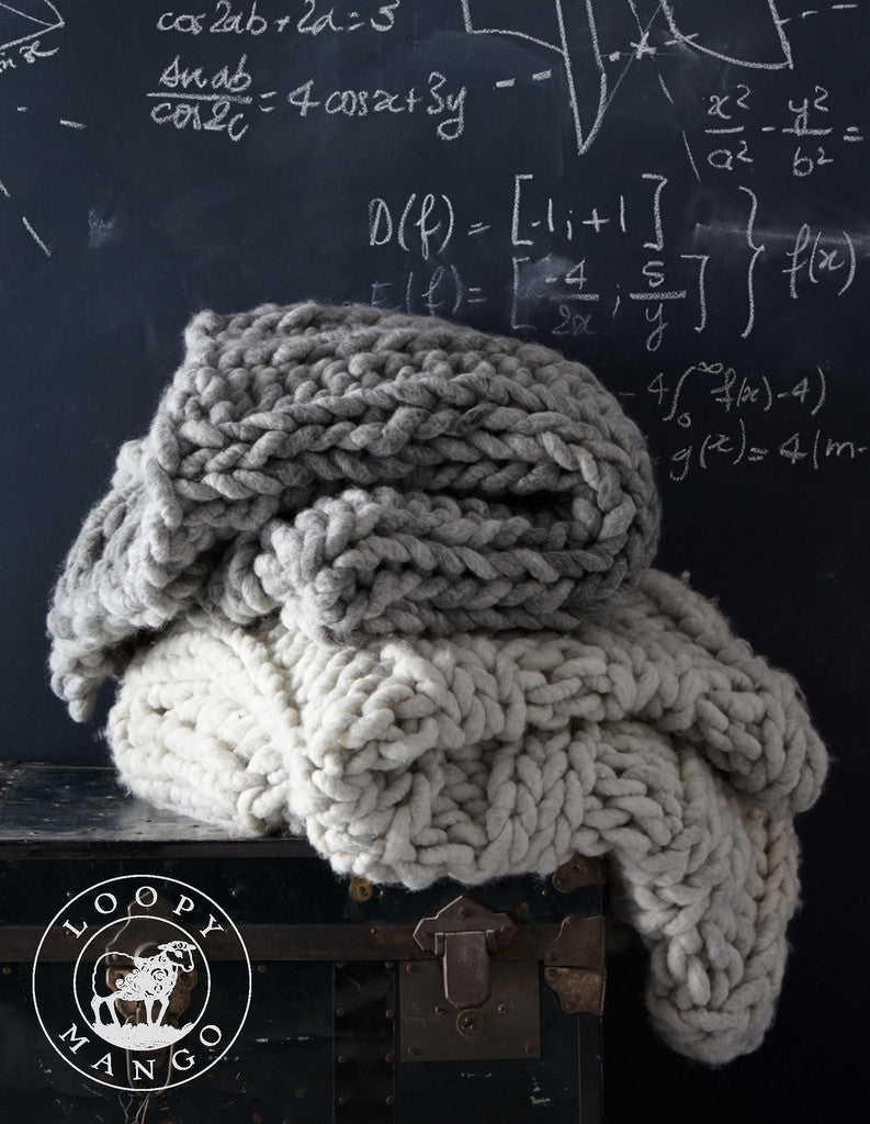 Nantucket Afghan Knitting Pattern : Loopy Mango DIY Knitting Kit: make a large Nantucket Throw ...
