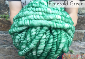 Loopy Mango Emerald Green Wool
