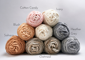 The most popular colours from LoopyMango chunky knit wool