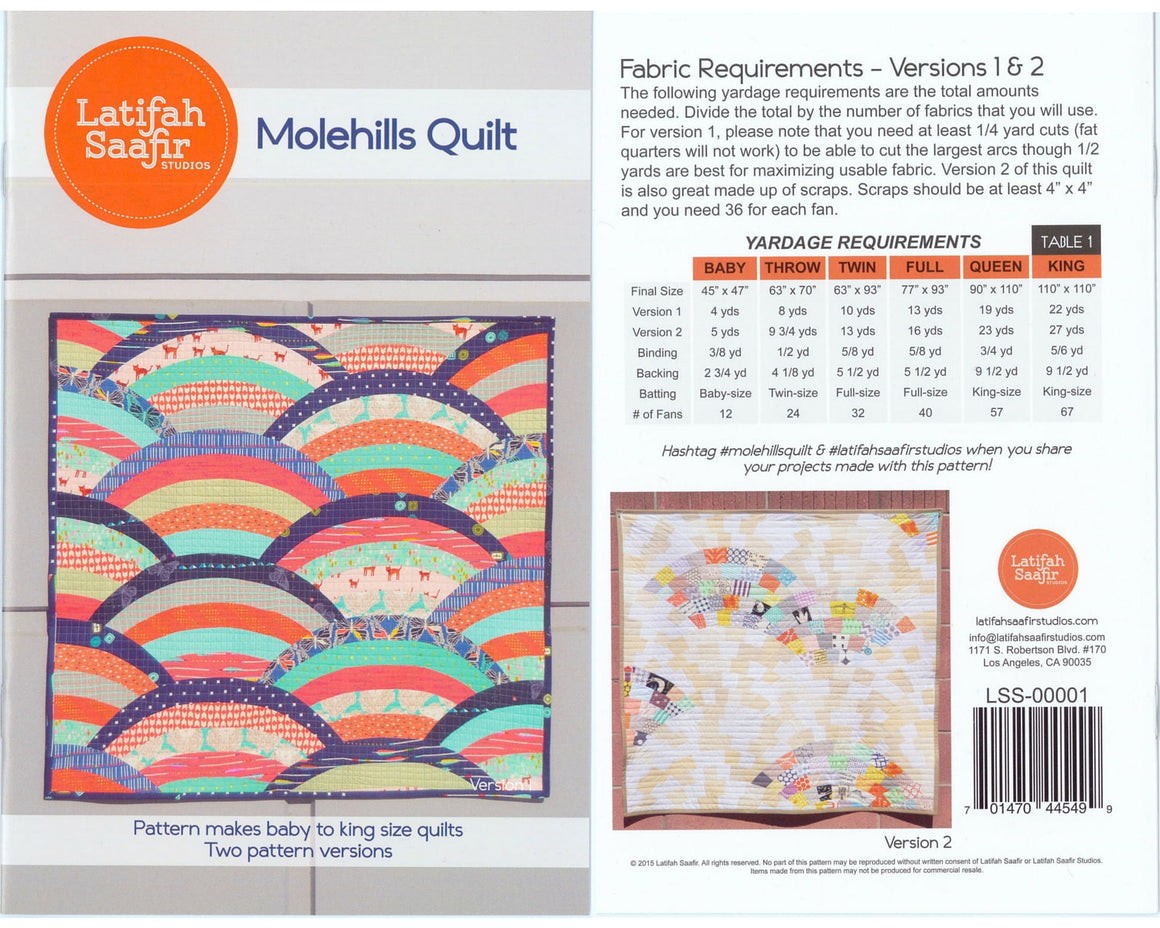 Molehills Quilt Top Pattern from Latifa Saafir at GetMaking