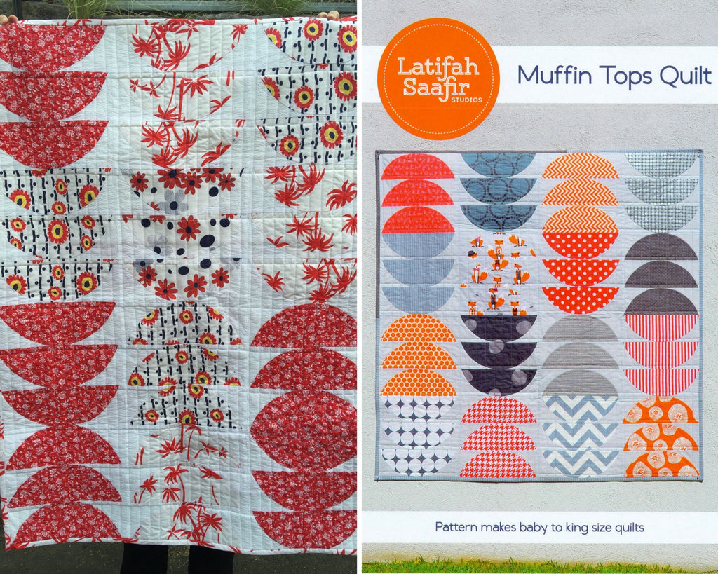 Muffin Top Quilt in a 3 by 4 block layout