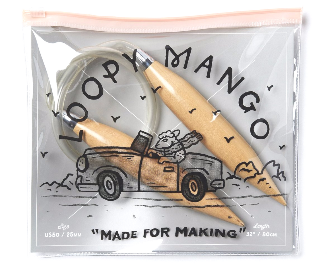 Loopy Mango Chunky Circular Knitting Needles