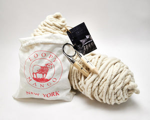 LoopyMango Nantucket Throw chunky knitting kit contents