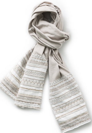 Alabama Chanin hand sewn striped scarf DIY Kit