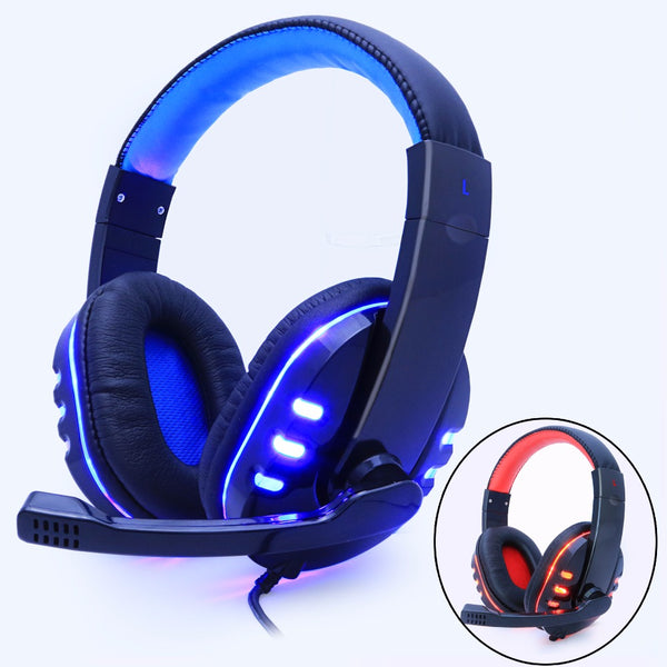 Gaming Headphone Headset With Mic Wired led