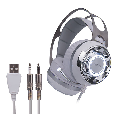 Gaming Headphones With Microphone Wired Led Light