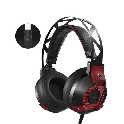 Gaming Headphones with Microphone Breathing LED Lights