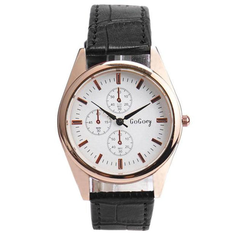 Men Fashion Leather Watch