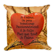 Load image into Gallery viewer, HEART ME! Je t'aime un peu beaucoup Premium Pillow