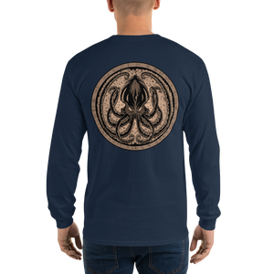 Men's Long Sleeve Shirt Sepia KRAKEN