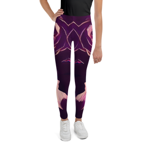 MALBA KOLORE PURPLE FRISE Leggings