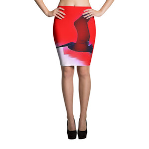PELIKANO ROJO Pencil Skirt