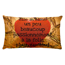 Load image into Gallery viewer, HEART ME! elle m'aime ... Premium Pillow