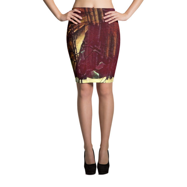 ESKUKO Pencil Skirt