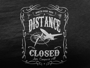 Distance Closed - Ladies Cut Crew Neck Short Sleeve T-Shirt