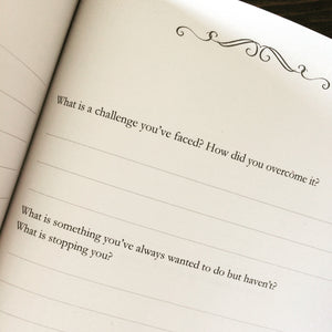 Questions to ask grandparents What is a challenge you've face? and What is something you've always wanted to do but haven't? The Making of a Grandparent journal