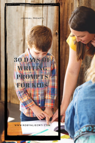 30 Days of Journal Prompts for kids writing by Journals of Discovery