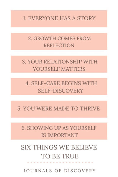 Six things we believe to be true by Journals of Discovery