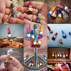 Homemade crocheted gnomes by Barrie Homemade