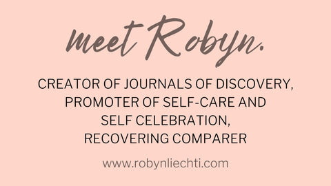 daily self-care guided journals and prompts for self-discovery by Journals of Discovery and Robyn Liechti