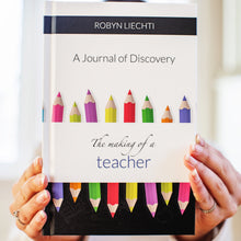 Self care daily guided journal for teachers The Making of a Teacher by Journals of Discovery
