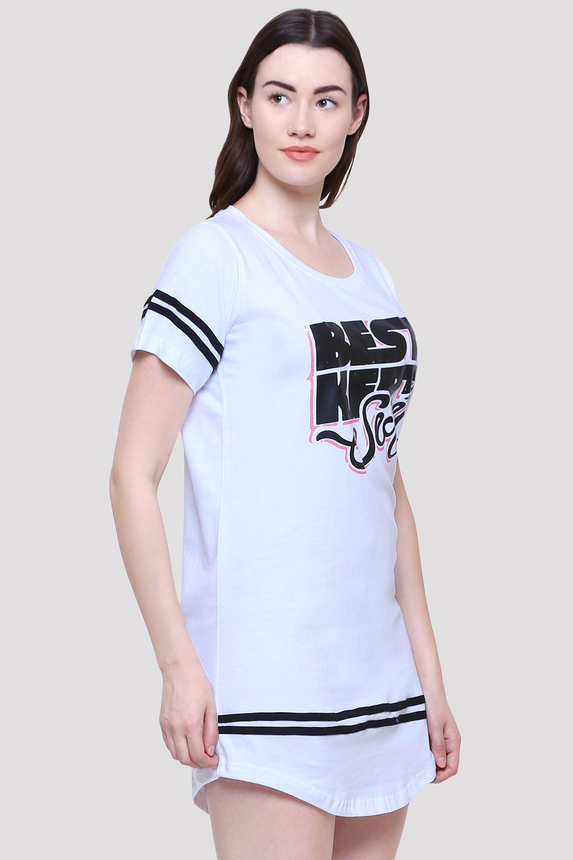 Best Kept Secret White T-Shirt Dress for Women