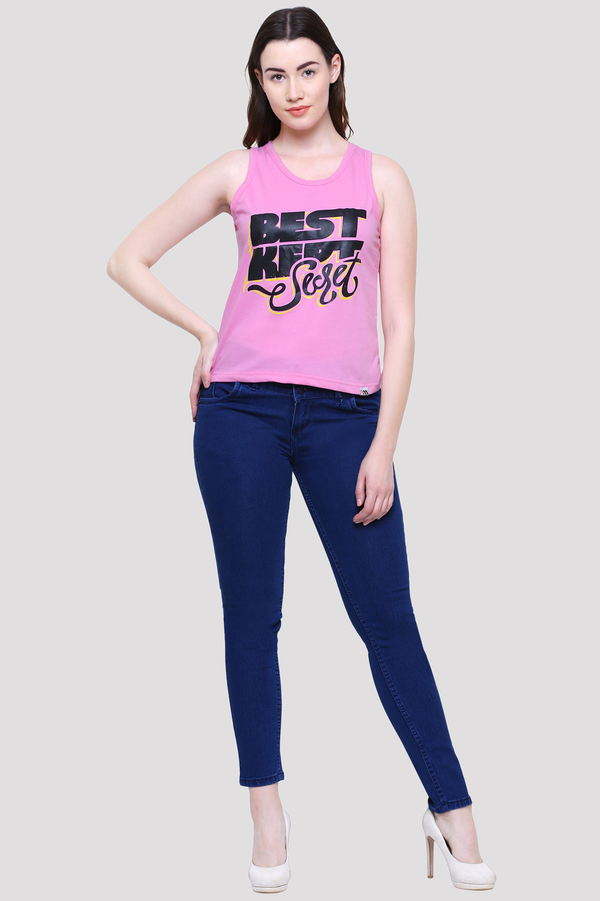 Best Kept Secret Pink Tank Top for Women