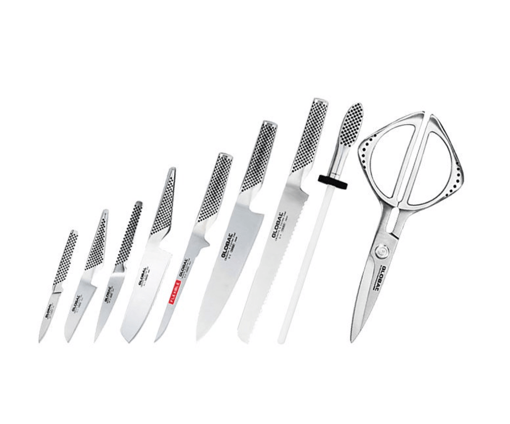 Global Takashi 10 Piece Knife Block Set - Bronx Homewares