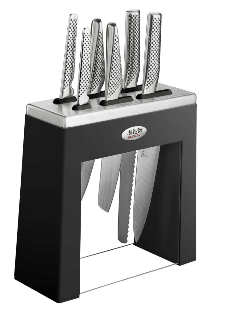 Global Kabuto 7pc Knife Block Set