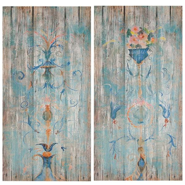 Load image into Gallery viewer, Blue Fleur Wall Art