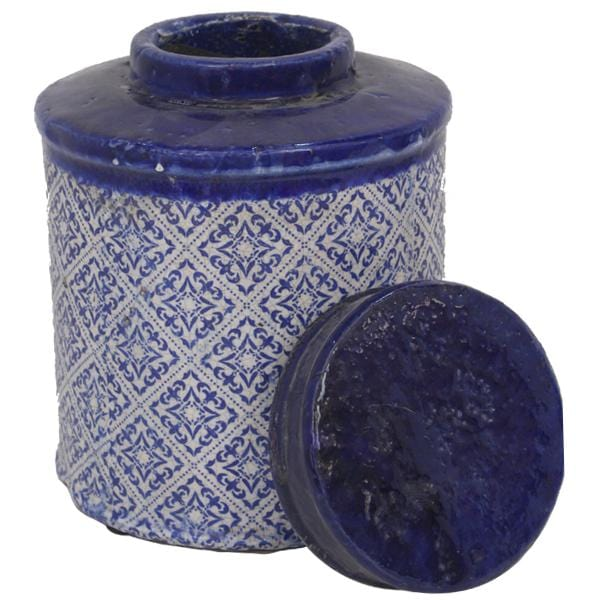 Mosaic Lidded Jar Large