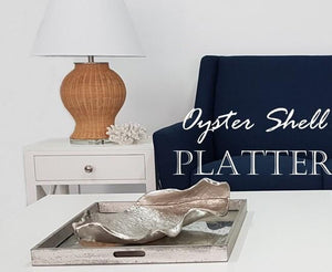 Oyster Shell Style Metal Platter