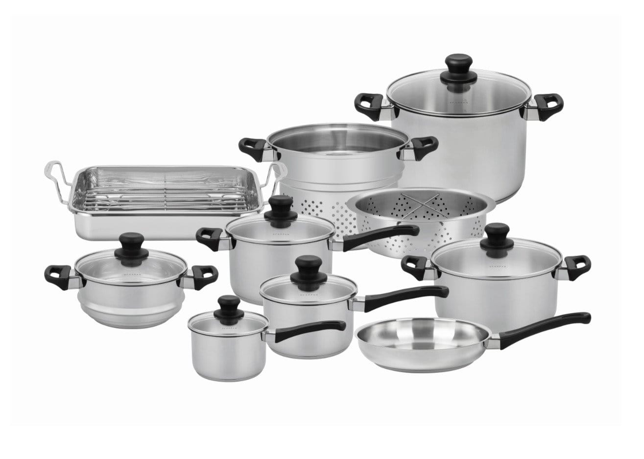 Scanpan Classic Inox 10 Piece Cookware Set - Bronx Homewares