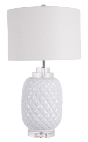 Load image into Gallery viewer, Island White Table Lamp gloss ceramic