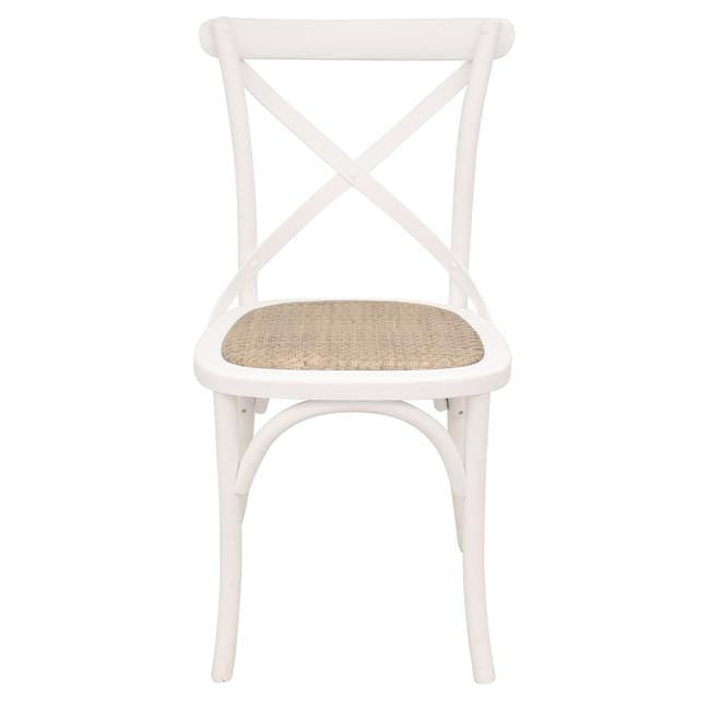Crossback Dining Chair White no distressing