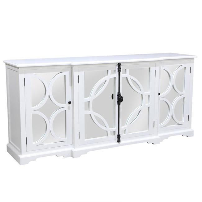 Keats Sideboard White with Mirror Backing