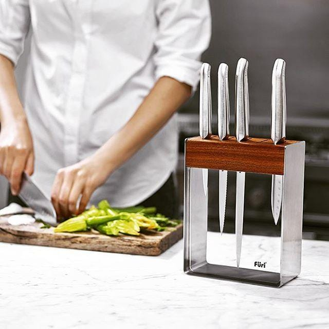 Load image into Gallery viewer, Furi Pro Stainless Steel Knife Block Set 7 Piece