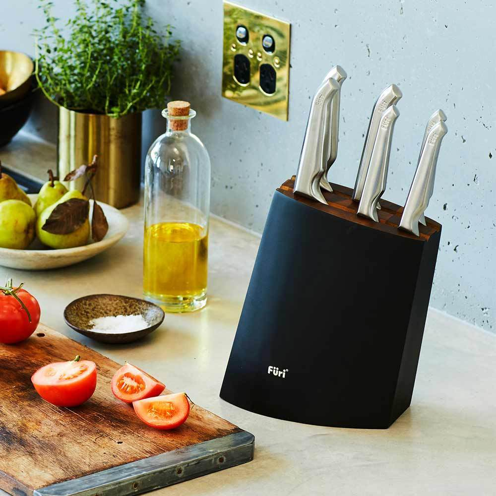 Furi Pro Angular Knife Block Set 8 Piece - Bronx Homewares