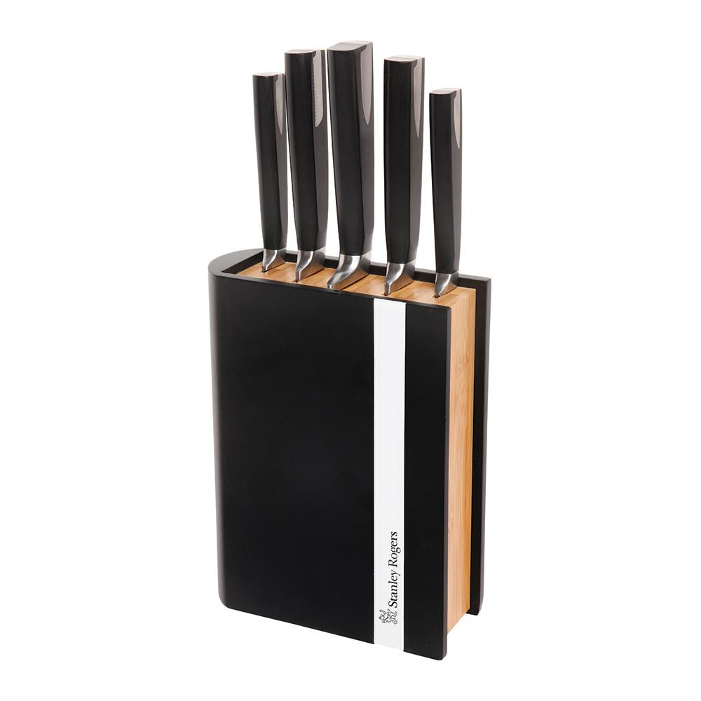 Stanley Rogers Encased Bamboo 6 Piece Knife Block