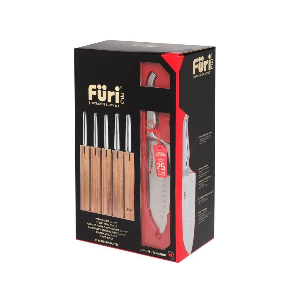 Furi Pro Segmented Knife Block Set 6 Piece - Bronx Homewares