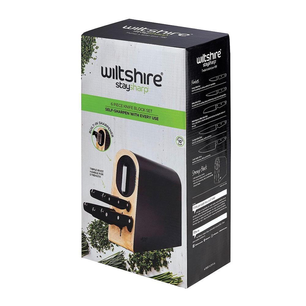Wiltshire Staysharp Triple Rivet Knife Block Set 6 Piece