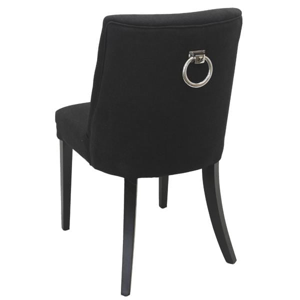 Ophelia Dining Chair Black chrome ring on back