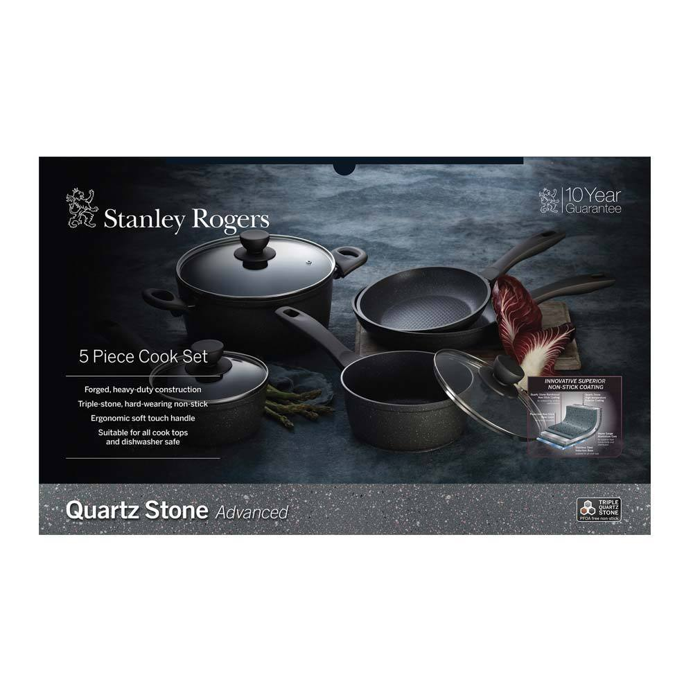 Stanley Rogers Quartz Stone Advanced 5pc Cookware Set