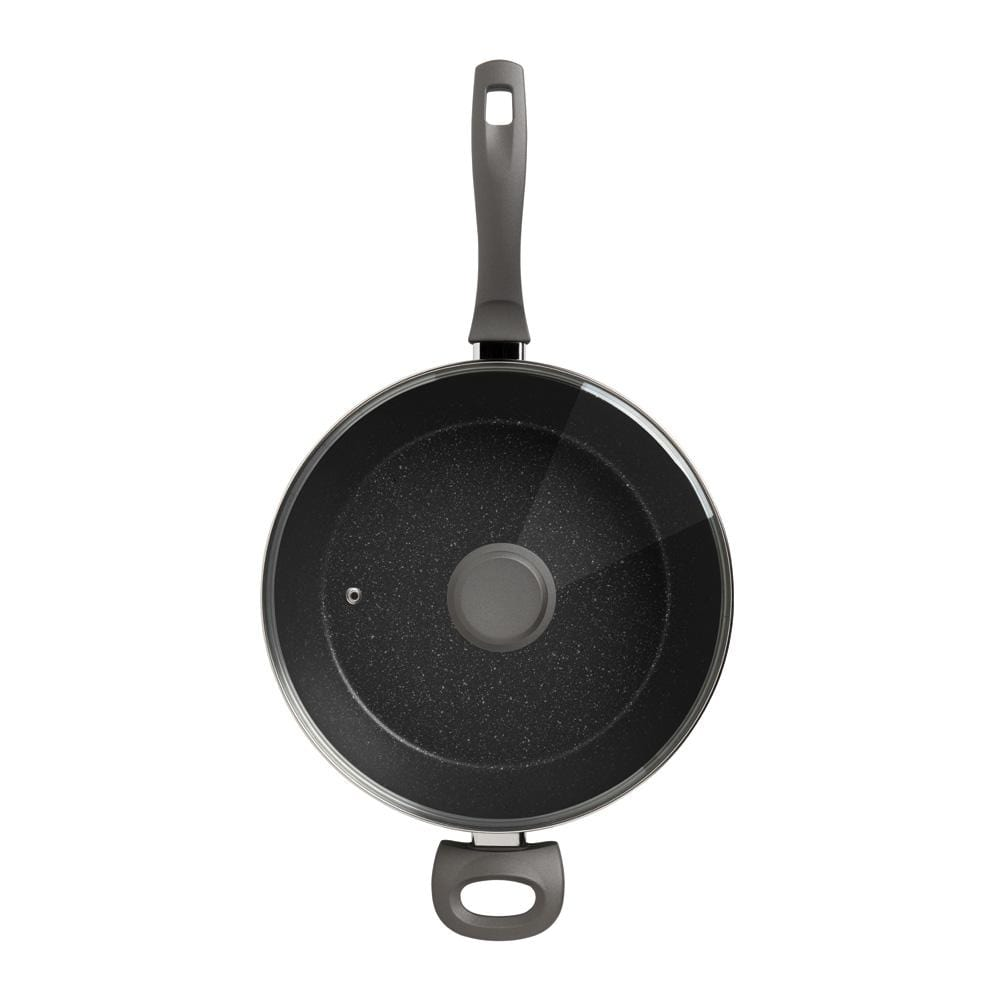 Stanley Rogers Quartz Stone Advanced Saute Pan With Lid 28Cm - Bronx Homewares