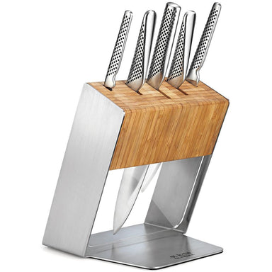 Global Knife Block Set Katana 6pc - Bronx Homewares