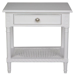 Polo Side Table/Bedside White