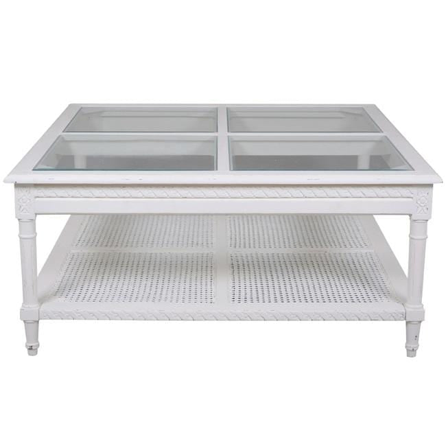 Polo Square Coffee Table White