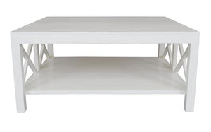 Catalina Crossed White Coffee Table